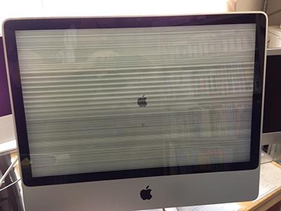 iMac2008アルミの画面の乱れ