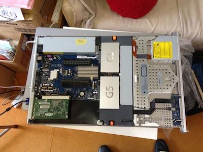 XserveG5の電源ユニット交換修理1
