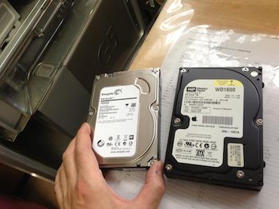 パワーマックG5のHDD交換