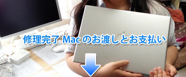 修理完了したMacのお渡し