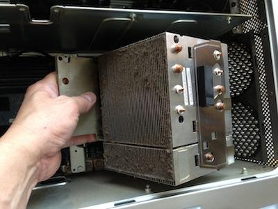 powermacg5 2.3dc CPU取り外し