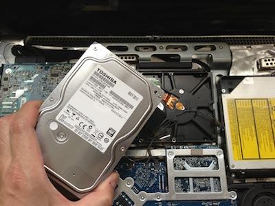 iMacのHDD交換