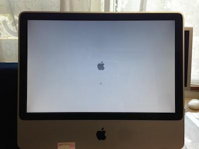iMacのアップルマークから起動しない