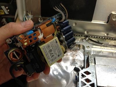 iMacG5電源ユニット交換修理