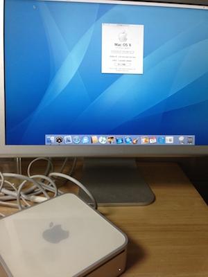 修理完了後Mac mini