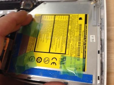 DVDドライブ取り出し