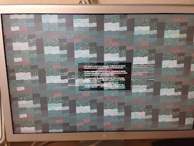画面が乱れて起動しないMac Pro