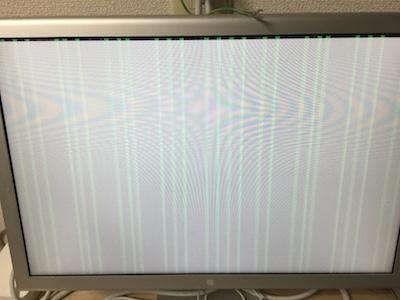 縞模様が出るMac Pro