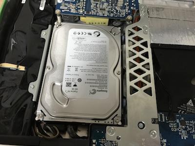 アイマックG5HDD交換